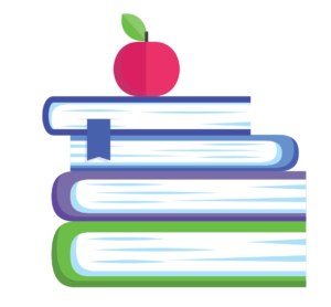 Education books with apple icon