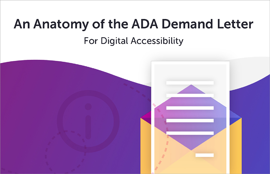 An Anatomy of the ADA Demand Letter for Digital Accessibility eBook cover